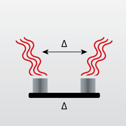 ICON representing Thermogravimetry/Differential Thermal Analysis (TG/DTA)
